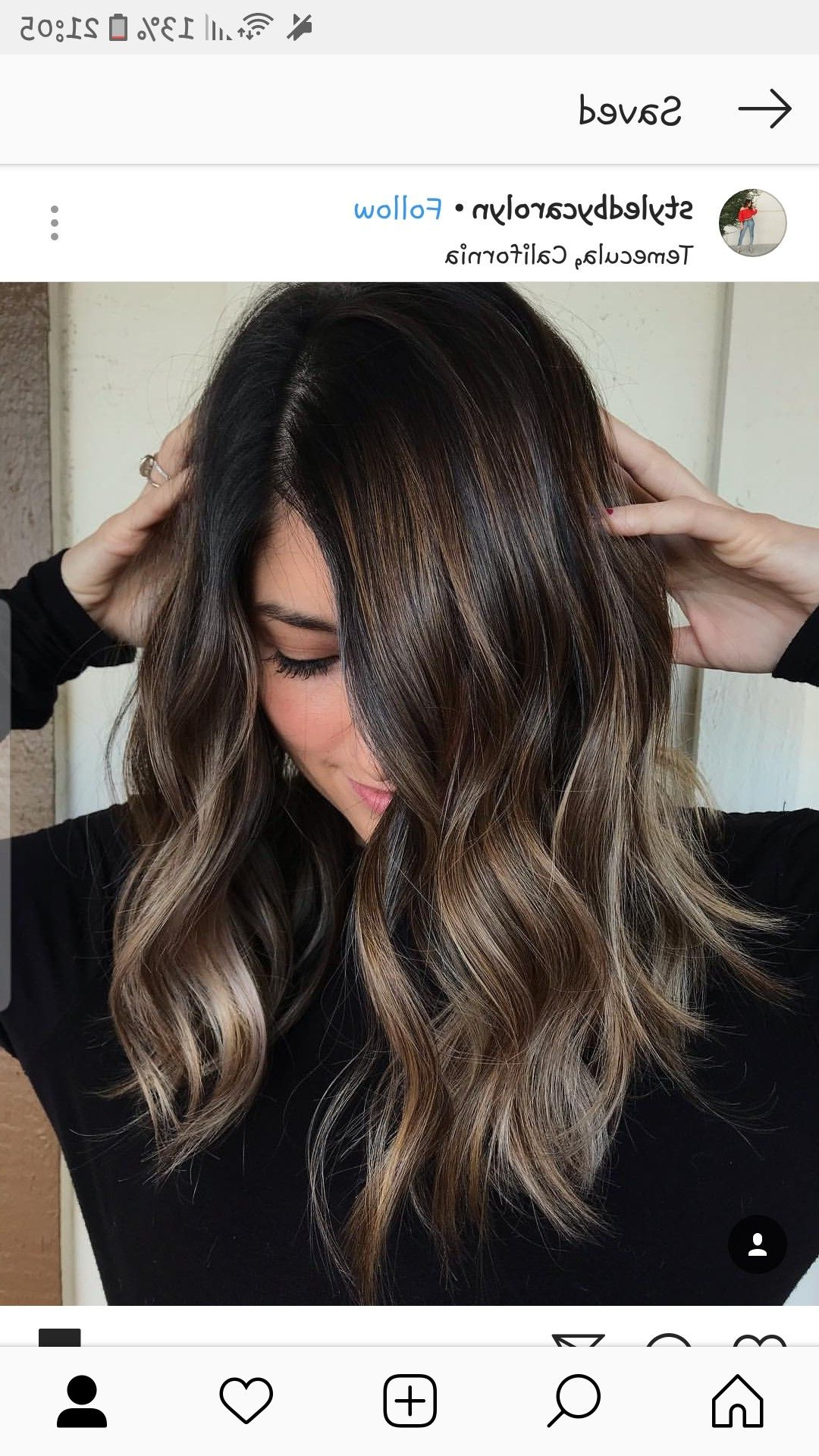 Recent Longer Textured Haircuts With Sun Kissed Balayage Pertaining To Pinanh Nguyen On Hair In (View 7 of 20)
