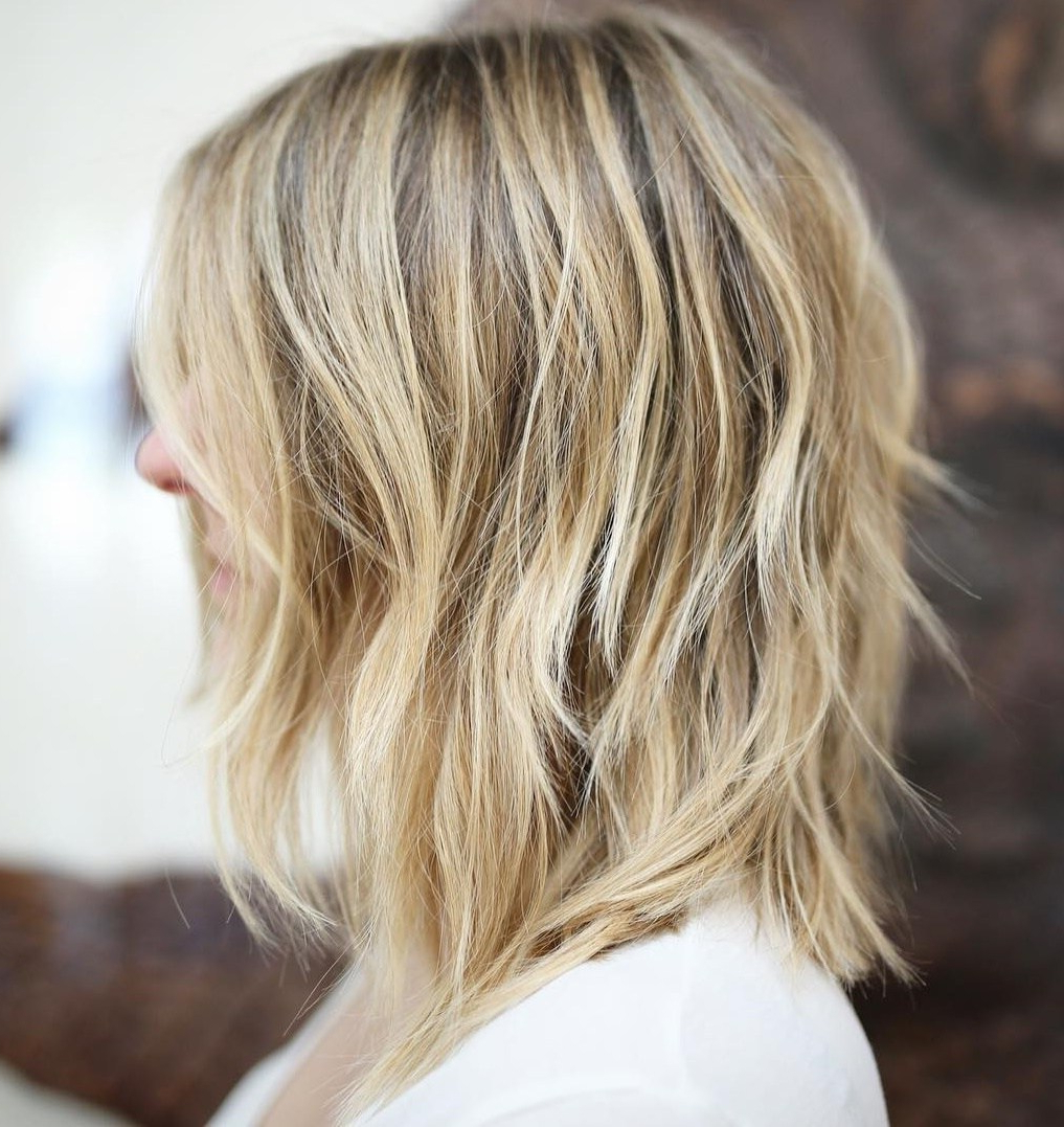 Recent Lovely Golden Blonde Haircuts With Swoopy Layers Within 50 Fabulous Medium Length Layered Hairstyles – Hair Adviser (View 14 of 20)