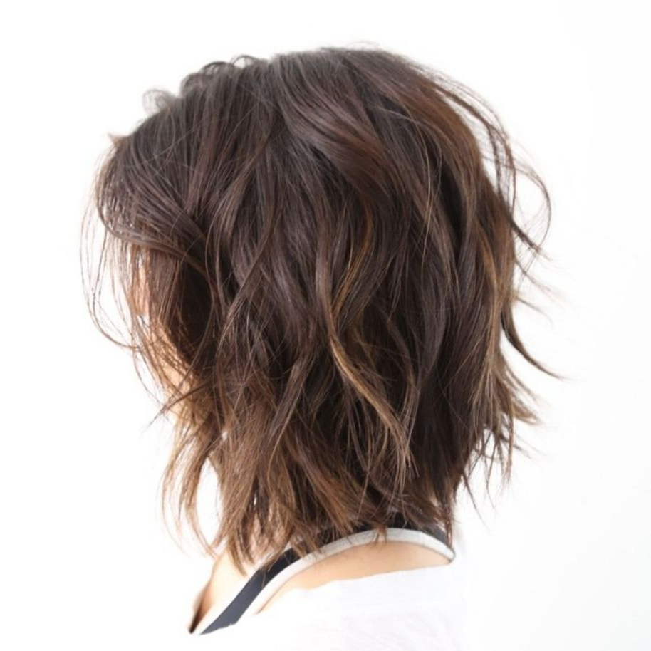 Featured Photo of Medium Loose Chocolate Shag Haircuts