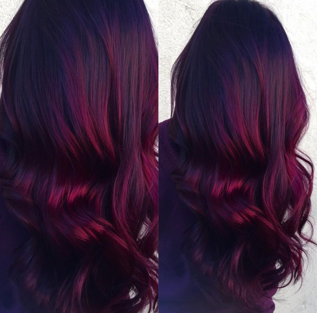 Red Velvet Balayage– Dark Roots With Vibrant Burgundy Ends In Vibrant Burgundy Shag Haircuts (View 17 of 20)