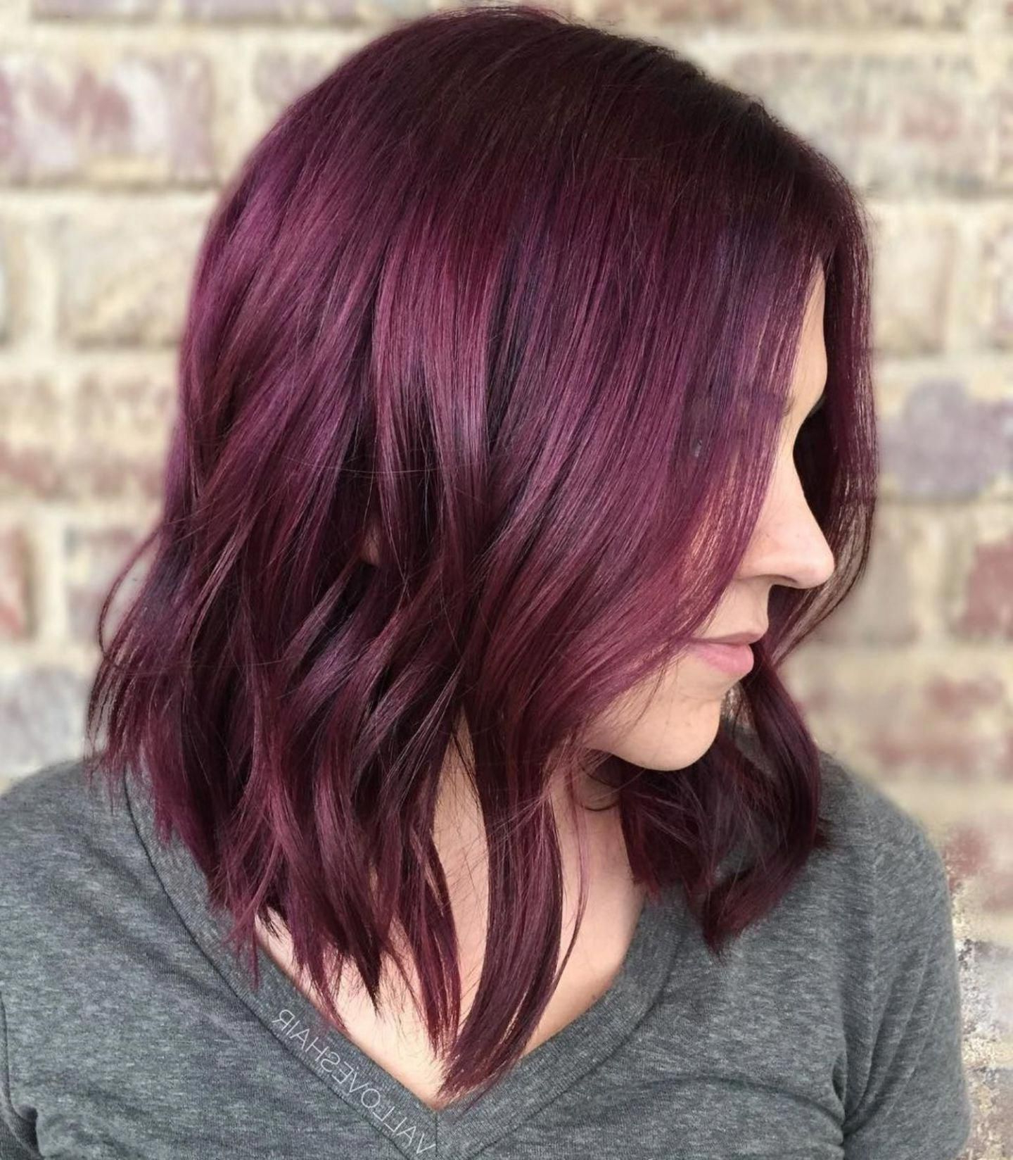 Red Violet Hair Color #redhaircolor Within Long Curly Pixie Haircuts With Subtle Highlights (View 17 of 20)