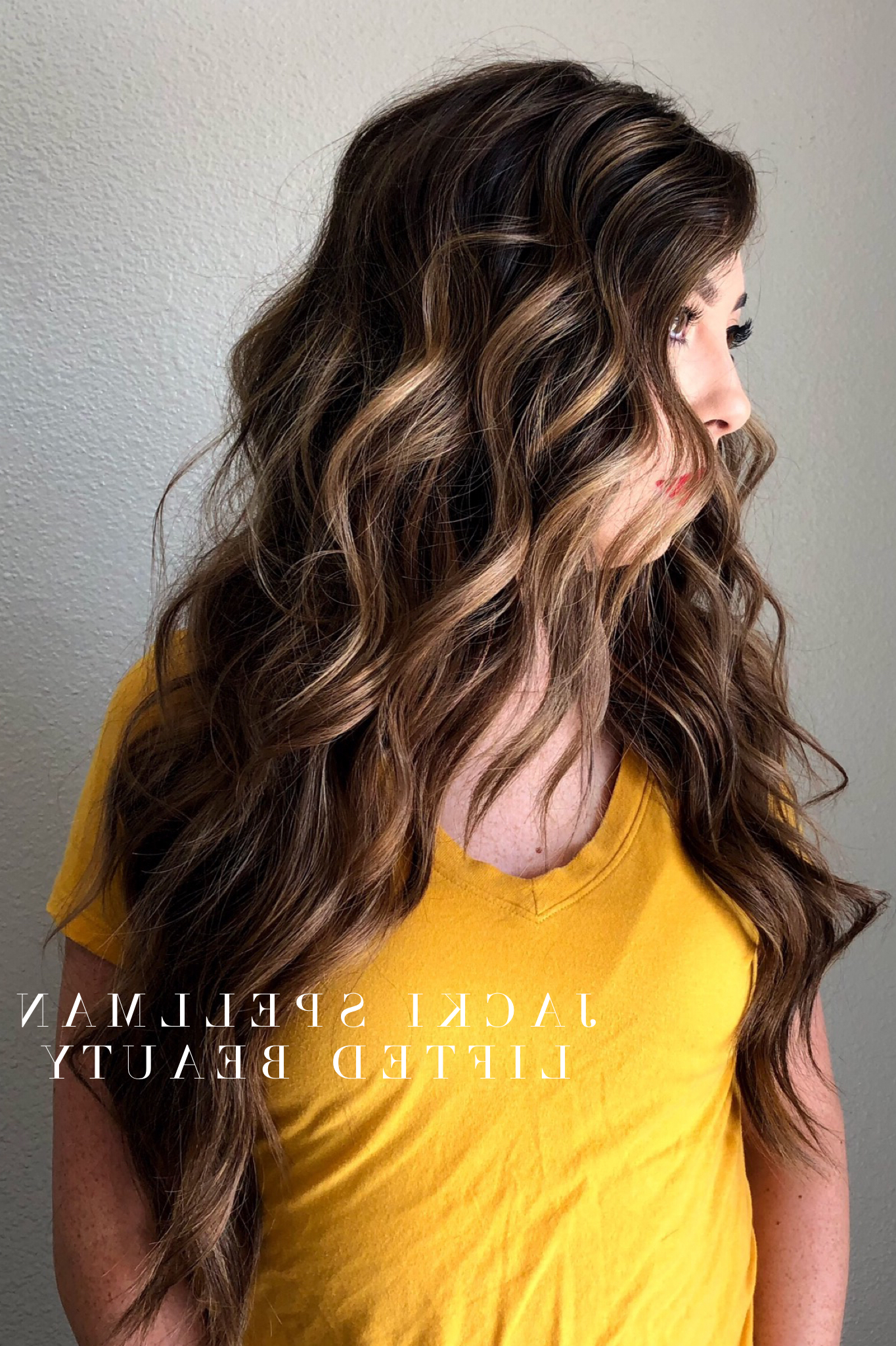 Rich Brunette Hair Color With Balayage Honey And Caramel For Most Up To Date Voluminous Long Caramel Hairstyles (View 18 of 20)