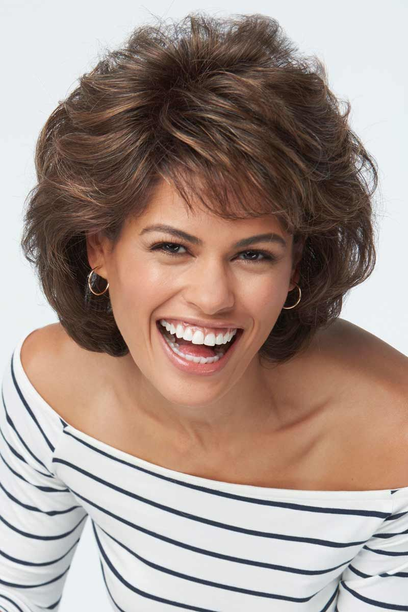 Salsaraquel Welch Wigs Pertaining To Jaw Length Shaggy Walnut Brown Bob Hairstyles (View 16 of 20)