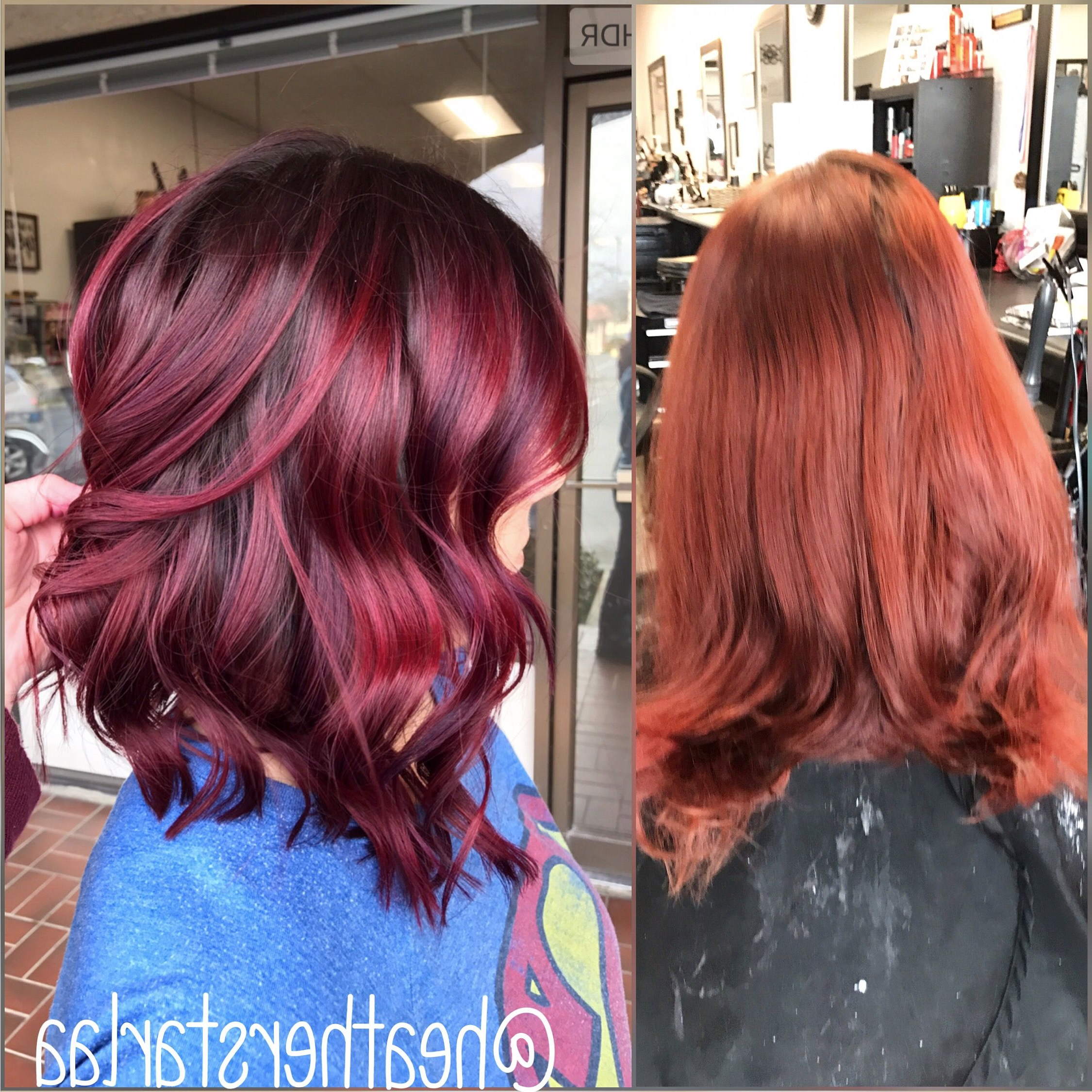 Shadow Root. Burgundy Hair. Short Hair (View 18 of 20)