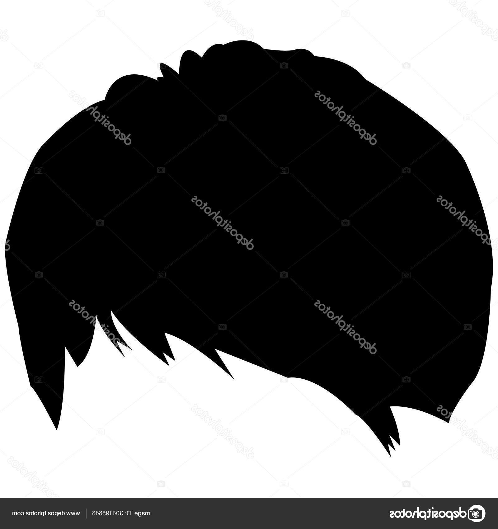 Shag Haircut Простой Дизайн — Векторное Изображение Inside Recent Grungy Shag Haircuts (View 18 of 20)