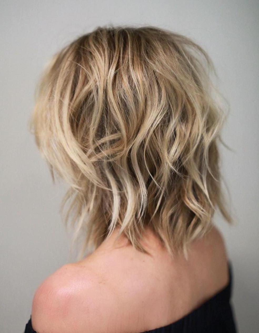 Shaggy Medium Length Haircuts Throughout Latest Shaggy Chestnut Medium Length Hairstyles (View 4 of 20)