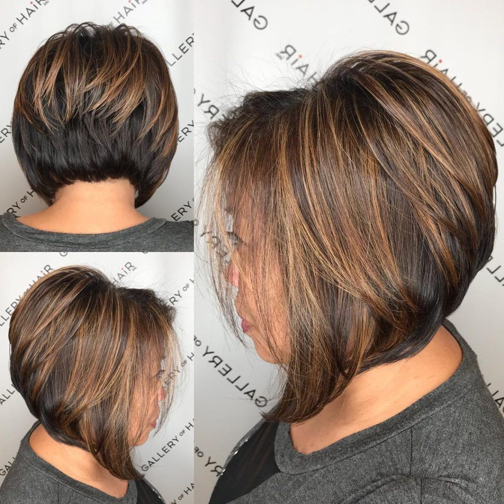Short Brunette Hairstyles With Highlights – Hairstyles Within Short Bob Hairstyles With Highlights (View 19 of 20)