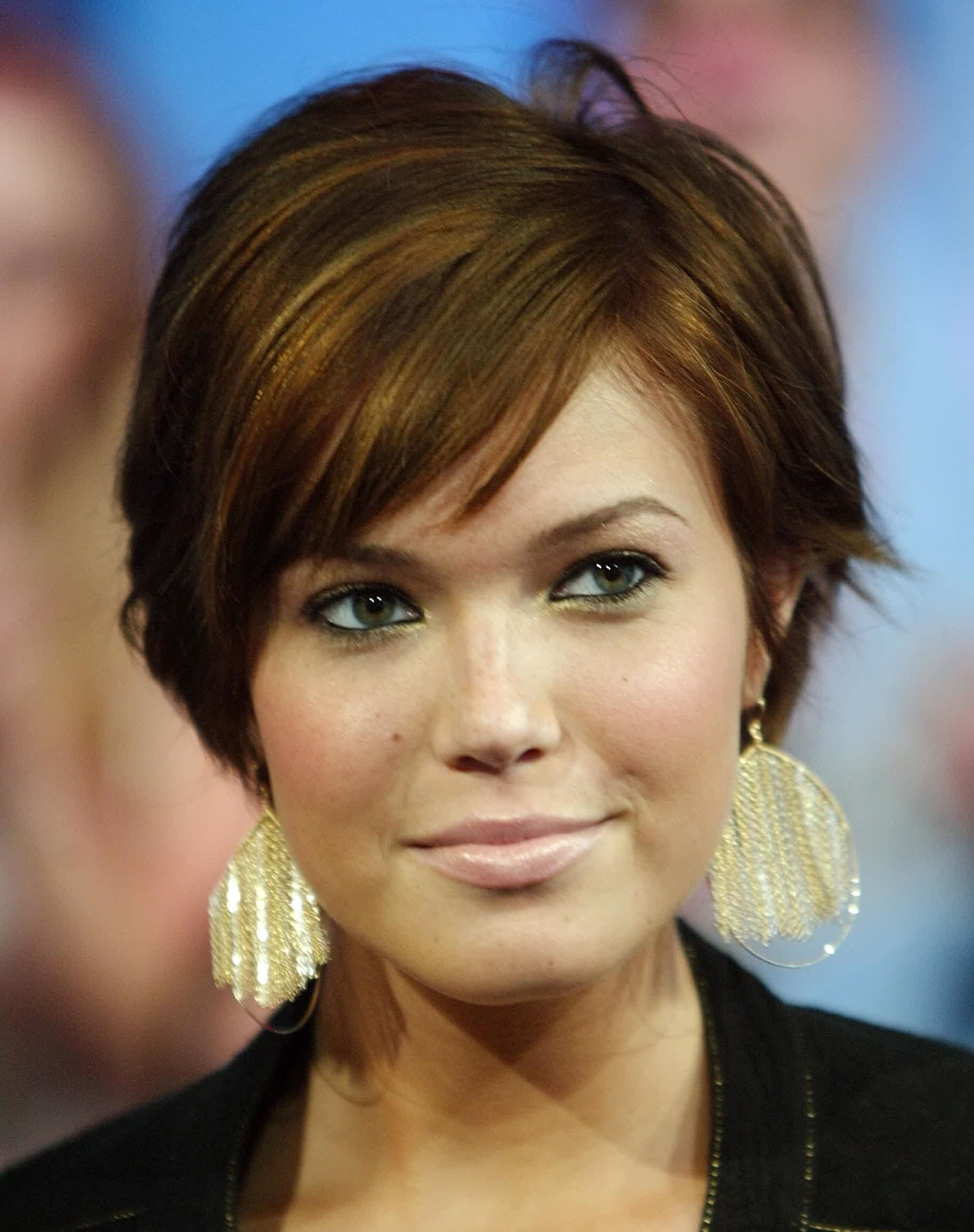 Short Hair With Bangs Round Face Short Hair Round Face With Short Bangs Hairstyles For Round Face Types (View 15 of 20)