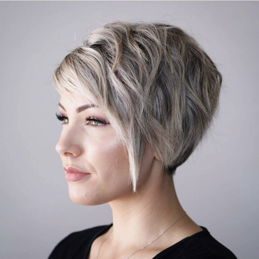 Short Hairstyle : Best Shortstyles For Thick Engaging Square Intended For Layered Short Hairstyles For Round Faces (View 12 of 20)