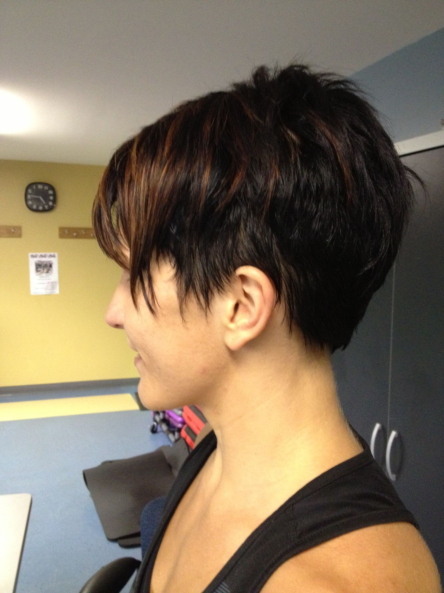 Short Pixie With Highlights | Hair In 2019 | Dark Hair With In Dark Pixie Hairstyles With Cinnamon Streaks (View 7 of 20)