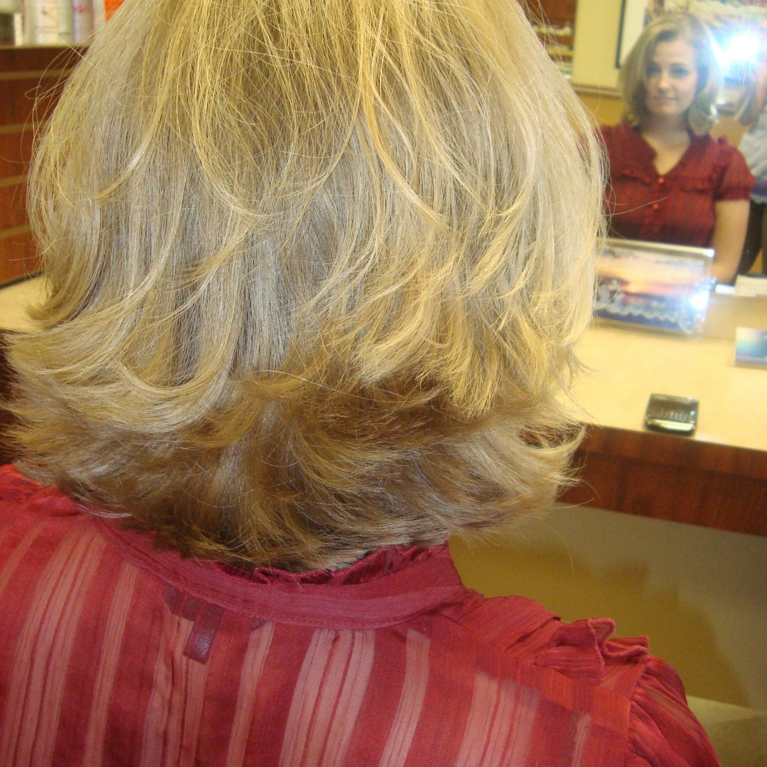 Short, Thick, And Blonde Flipped Hair, Low Maintenance And Intended For Preferred Medium Haircuts With Flipped Ends For Thick Hair (View 7 of 20)