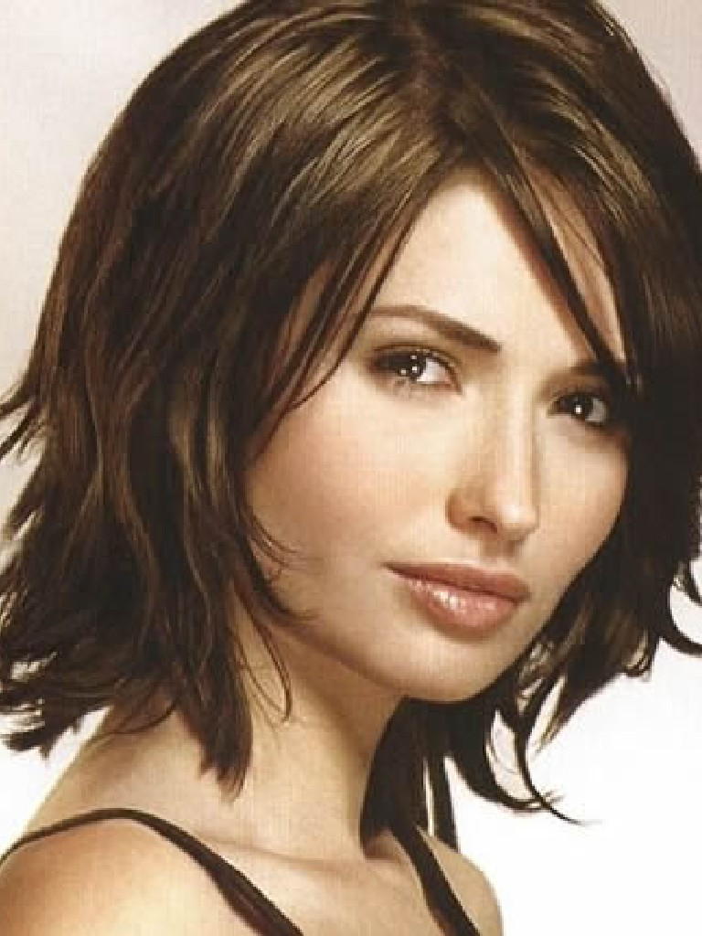 Shoulder Hairstyle : Medium Length Hairstyles For Women Over With Newest Medium Brunette Shag Haircuts With Thick Bangs (View 17 of 20)