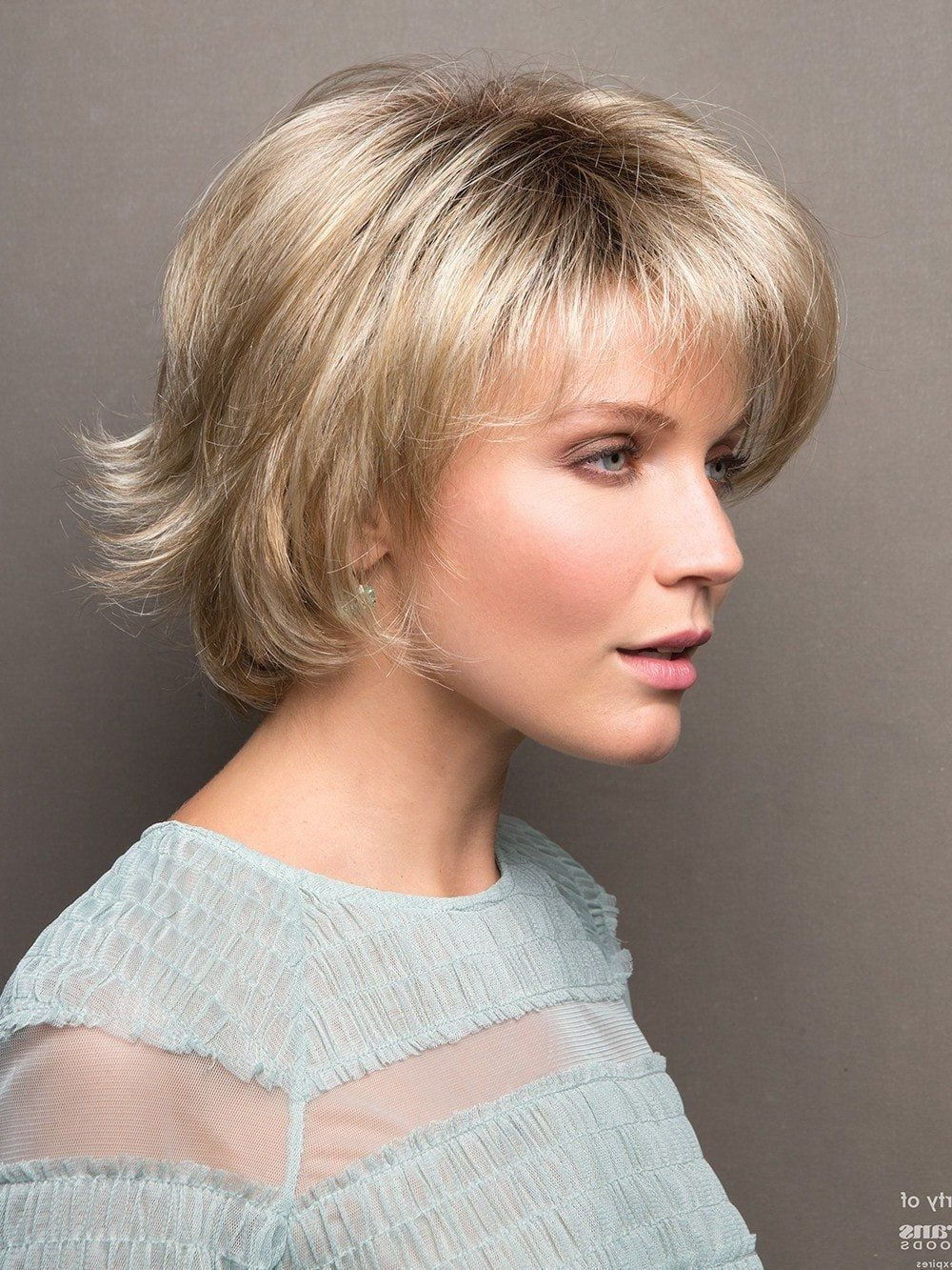 Sky | Synthetic Wig (basic Cap) | Short Straight Hair Within Short Chocolate Bob Hairstyles With Feathered Layers (View 6 of 20)
