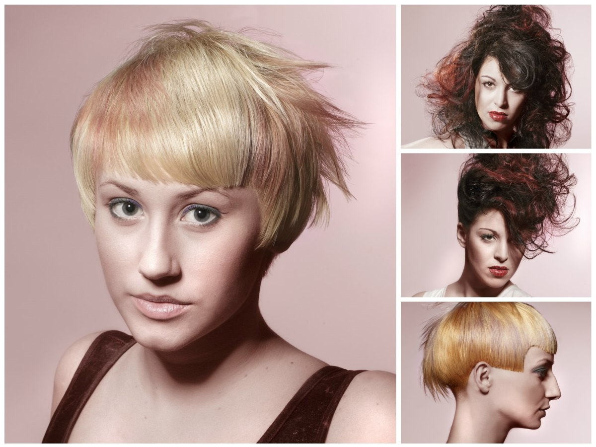 Summer Hairstyles With Warm And Cool Colors, Straight Lines With 2017 Wispy Layered Hairstyles In Spicy Color (Gallery 20 of 20)