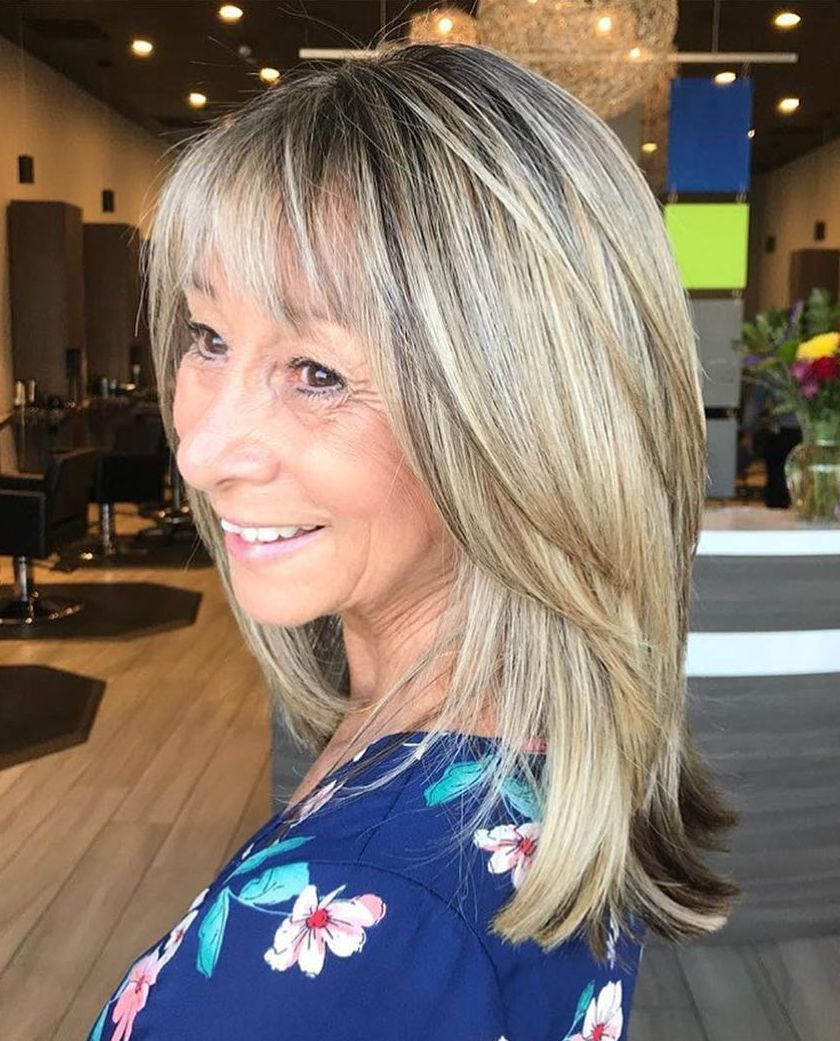 The Hottest Hairstyles And Haircuts For Women Over 60 To Inside Most Popular Medium Haircuts With Razored Face Framing Layers (View 17 of 20)