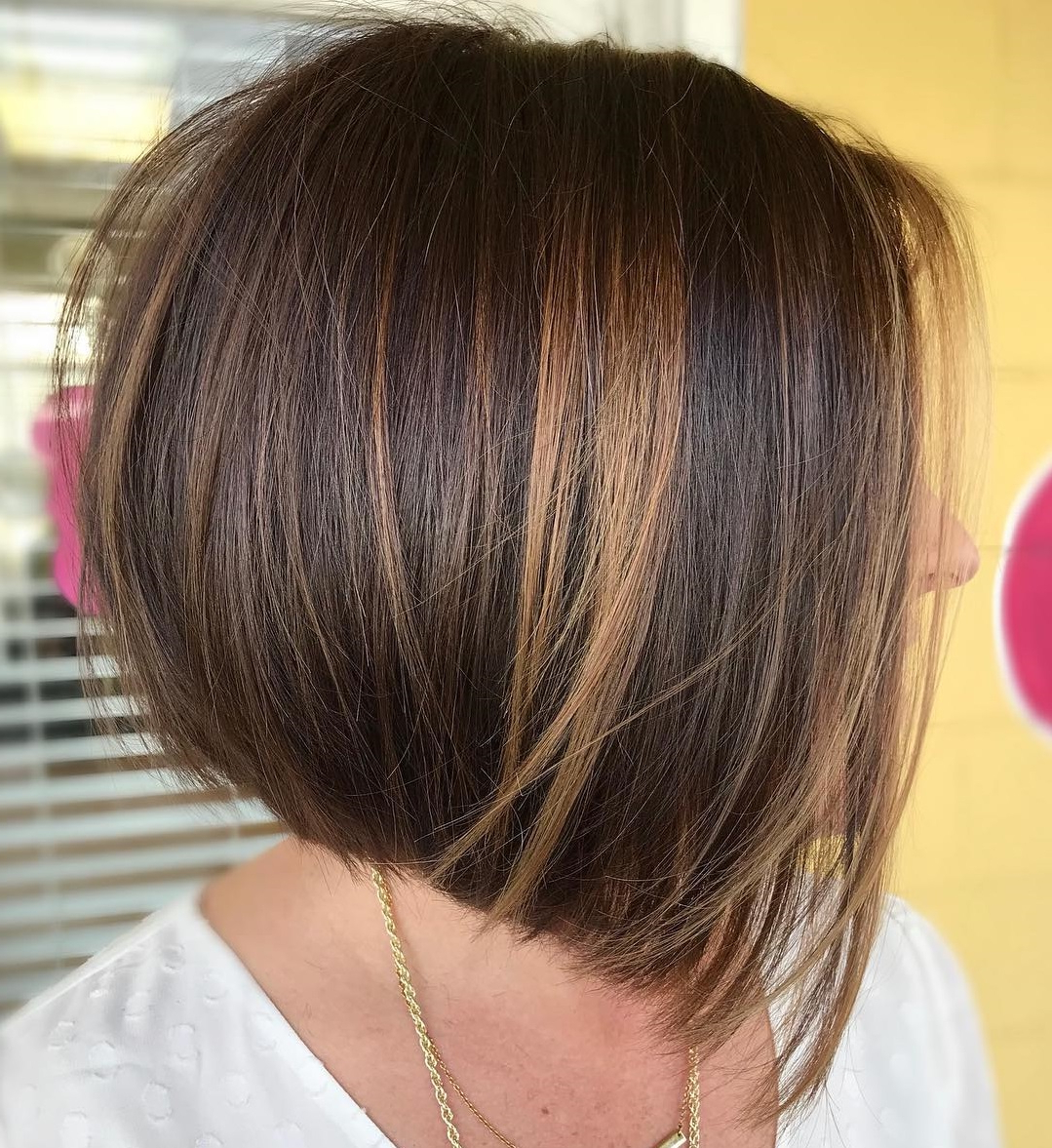The Hottest Trends For Brown Hair With Highlights To Nail In Within Bob Hairstyles With Contrasting Highlights (View 13 of 20)
