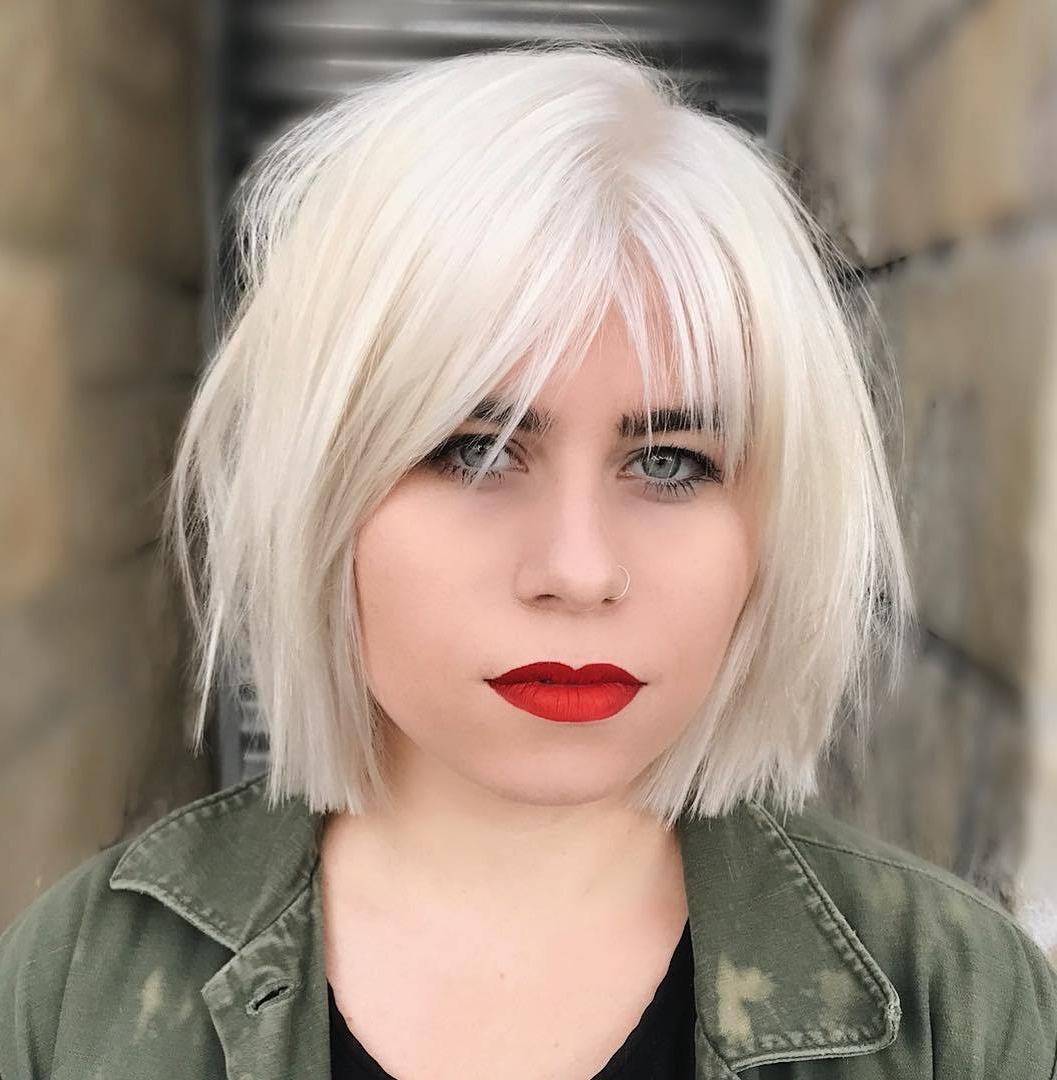 The Most Instagrammable Hairstyles With Bangs In 2019 Inside Short Bob Hairstyles With Cropped Bangs (View 11 of 20)