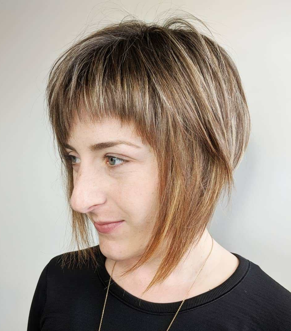 The Most Instagrammable Hairstyles With Bangs In 2019 Pertaining To A Line Bob Hairstyles With Arched Bangs (View 6 of 20)