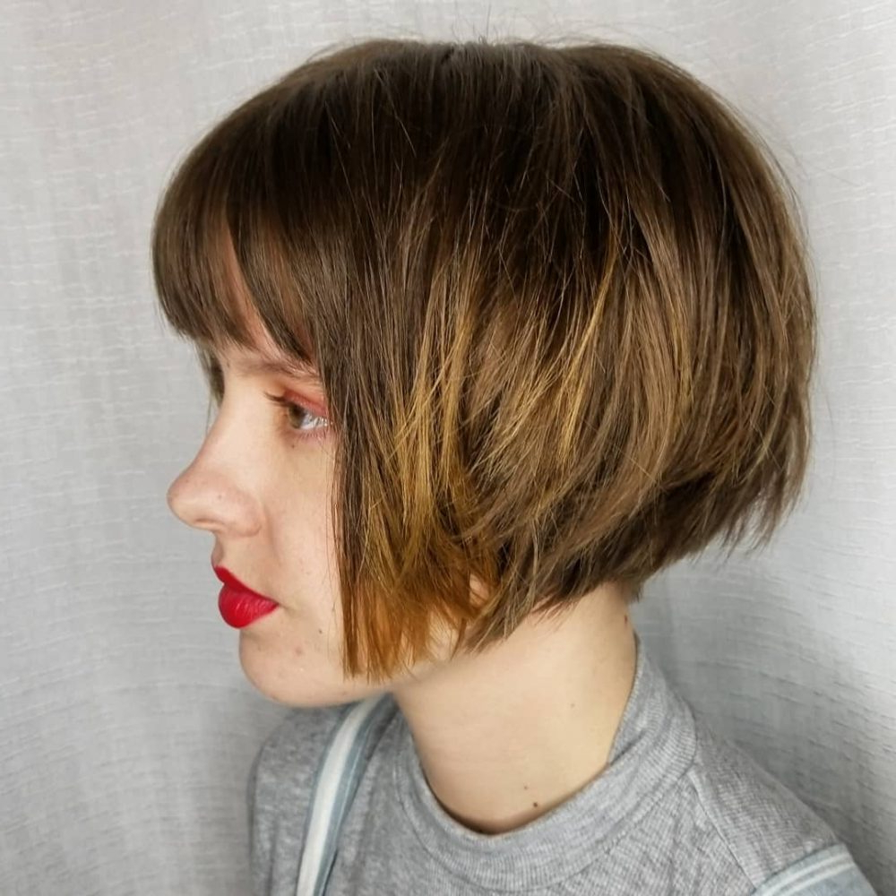 Top 22 Choppy Hairstyles You'll See In 2019 Inside Short Bob Hairstyles With Cropped Bangs (View 20 of 20)