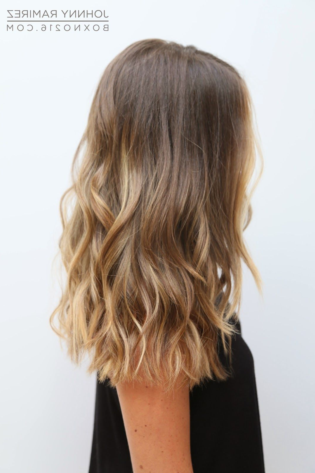 Tran Within Well Liked Longer Textured Haircuts With Sun Kissed Balayage (View 5 of 20)