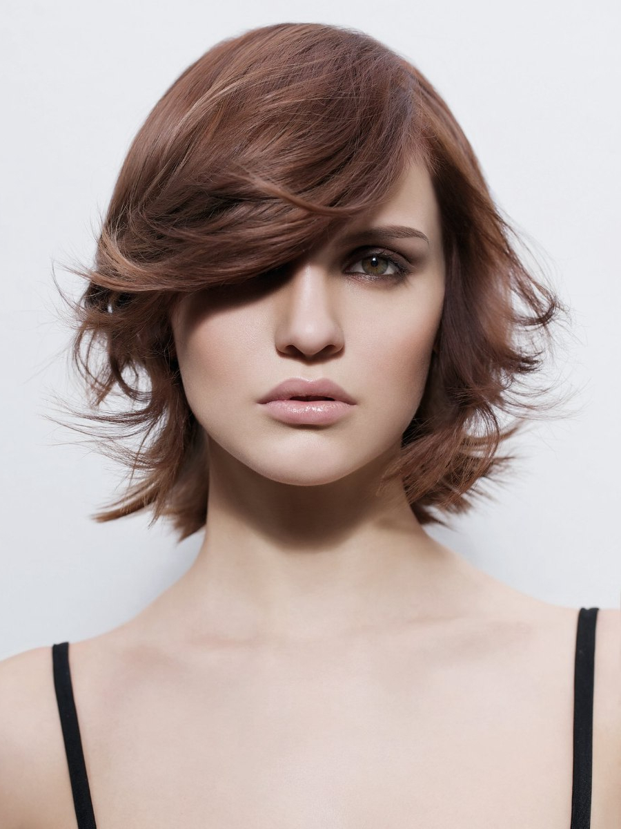 Trends In Hairstyling For Long, Medium And Short Hairstyles In Fashionable Wispy Layered Hairstyles In Spicy Color (View 17 of 20)