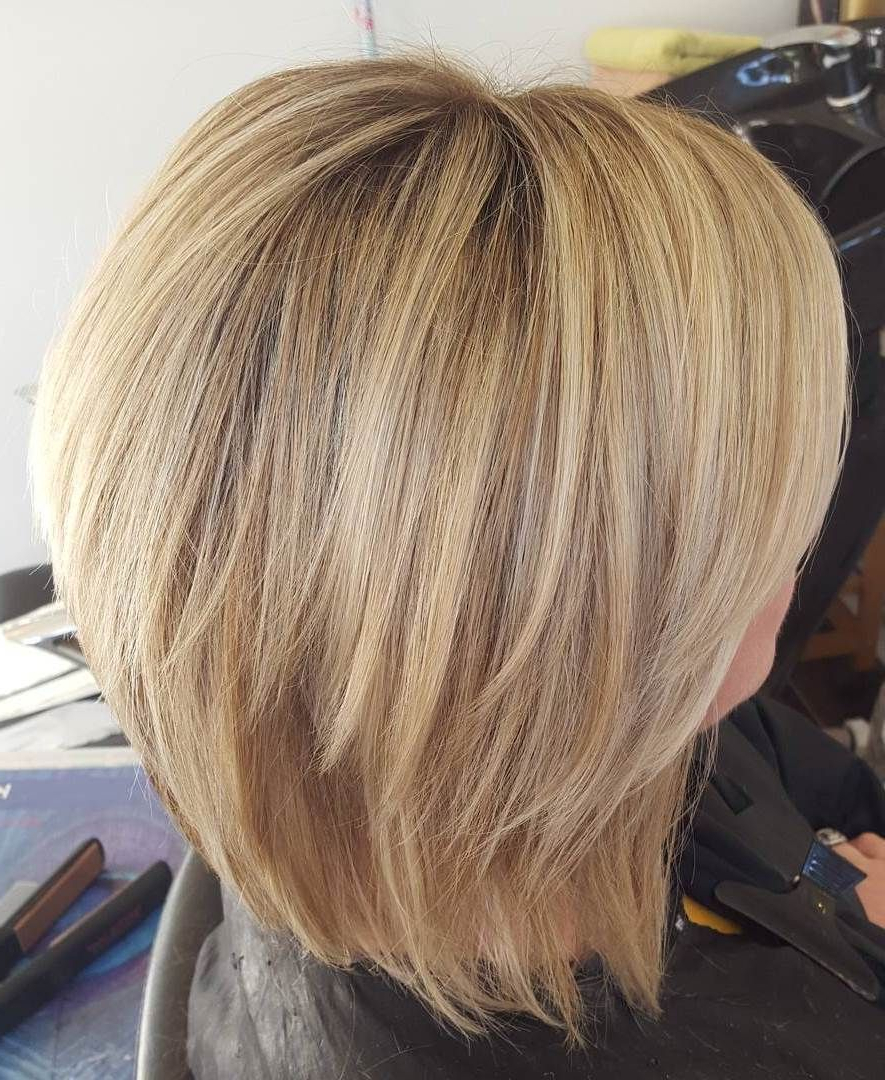 Trendy Chopped Medium Haircuts For Straight Hair With Pin On Hair (View 6 of 20)
