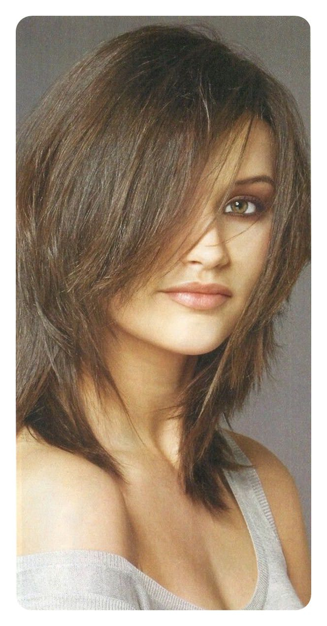 Trendy Cute Sliced Brunette Shaggy Haircuts With Regard To 72 Stunning Shag Haircuts That Is Flattering For Everyone! (View 18 of 20)