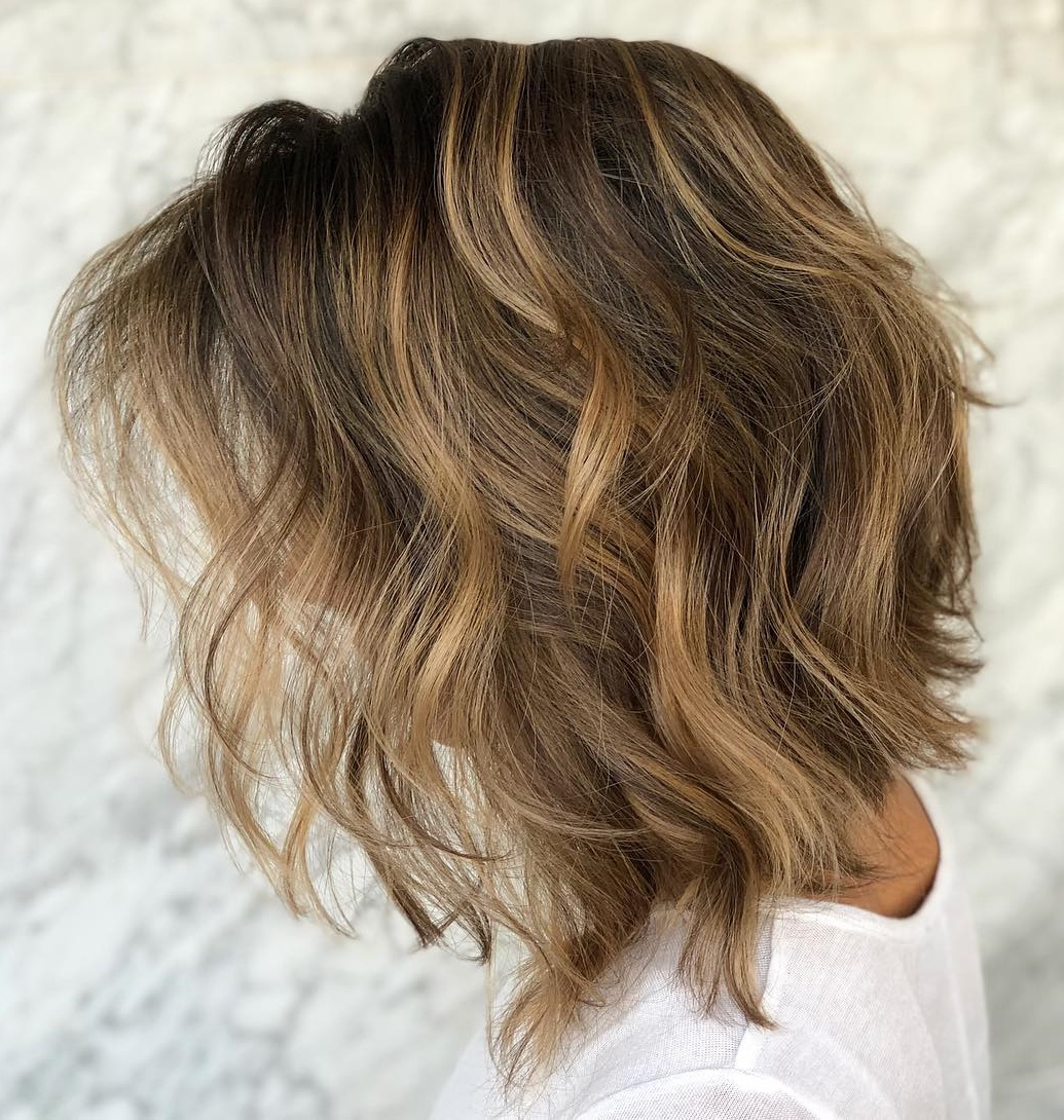 Trendy Longer Textured Haircuts With Sun Kissed Balayage Inside How To Pull Off Medium Length Haircuts And Hairstyles In (View 10 of 20)