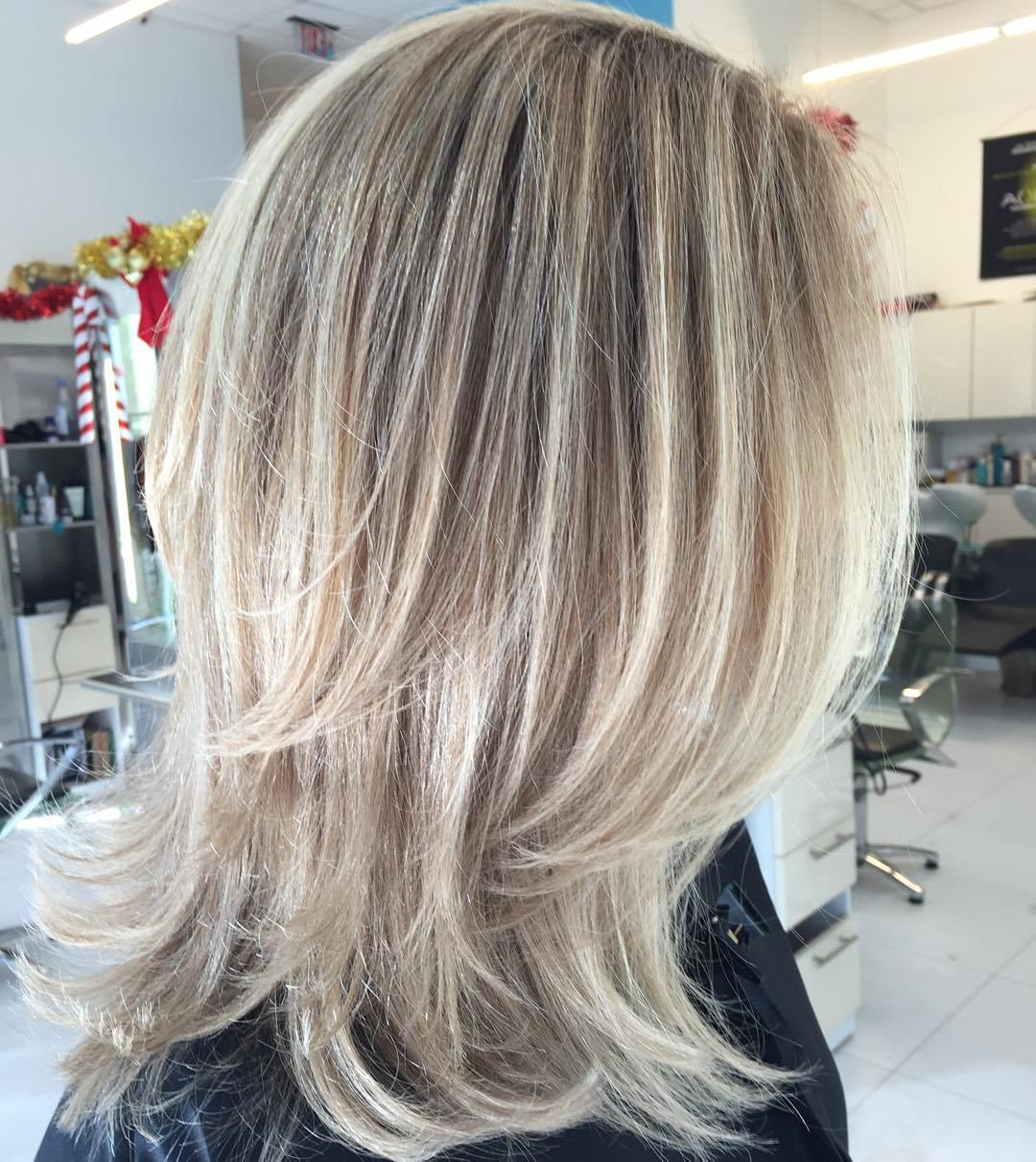Trendy Lovely Golden Blonde Haircuts With Swoopy Layers Intended For 50 Fabulous Medium Length Layered Hairstyles – Hair Adviser (View 17 of 20)