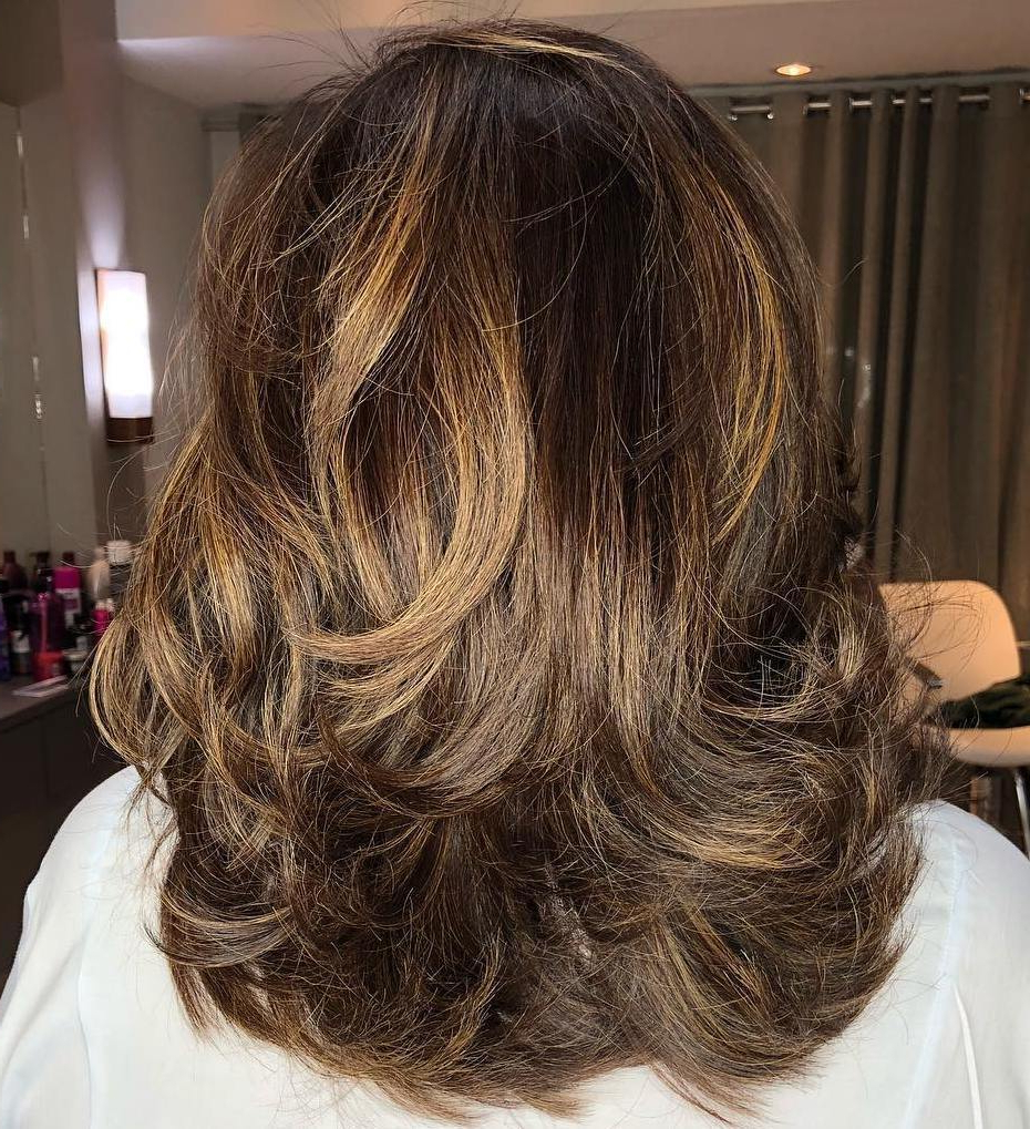 Trendy Medium Haircuts With Chunky Swoopy Layers With 50 Fabulous Medium Length Layered Hairstyles – Hair Adviser (View 18 of 20)