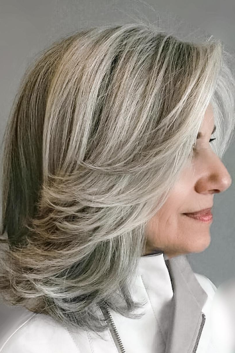 Trendy Medium Silver Layers Hairstyles In 20 Most Vivacious Silver Hairstyles For Women (Gallery 16 of 20)