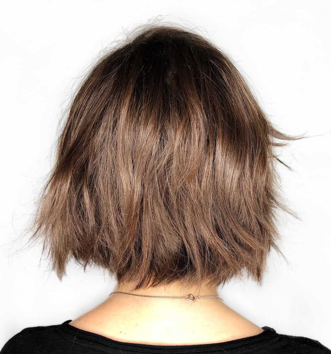 Trendy Pretty Shaggy Brunette Bob Hairstyles Pertaining To 45 Short Hairstyles For Fine Hair To Rock In (View 5 of 20)