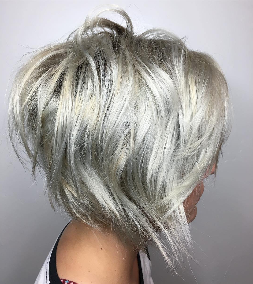 Trendy Silver Shag Haircuts With Feathered Layers With 50 Best Short Haircuts And Hairstyles For Fine Hair – Hair (View 10 of 20)