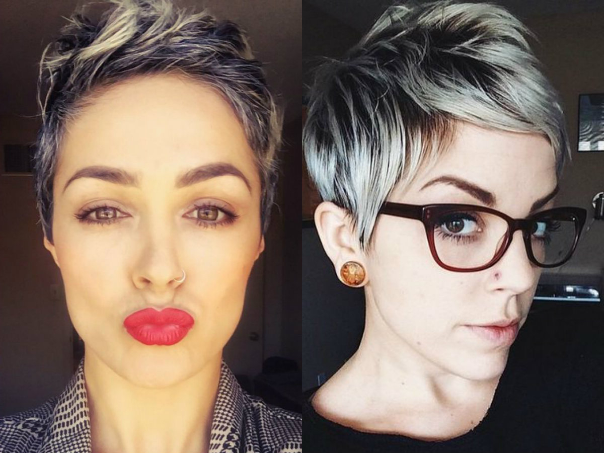 Vivacious Short Pixie Haircuts With Highlights | Hairdrome Regarding Dark Pixie Hairstyles With Cinnamon Streaks (Gallery 10 of 20)