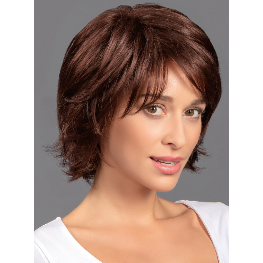 Wavy Mid Layered Shagtressallure For Jaw Length Shaggy Walnut Brown Bob Hairstyles (Gallery 20 of 20)