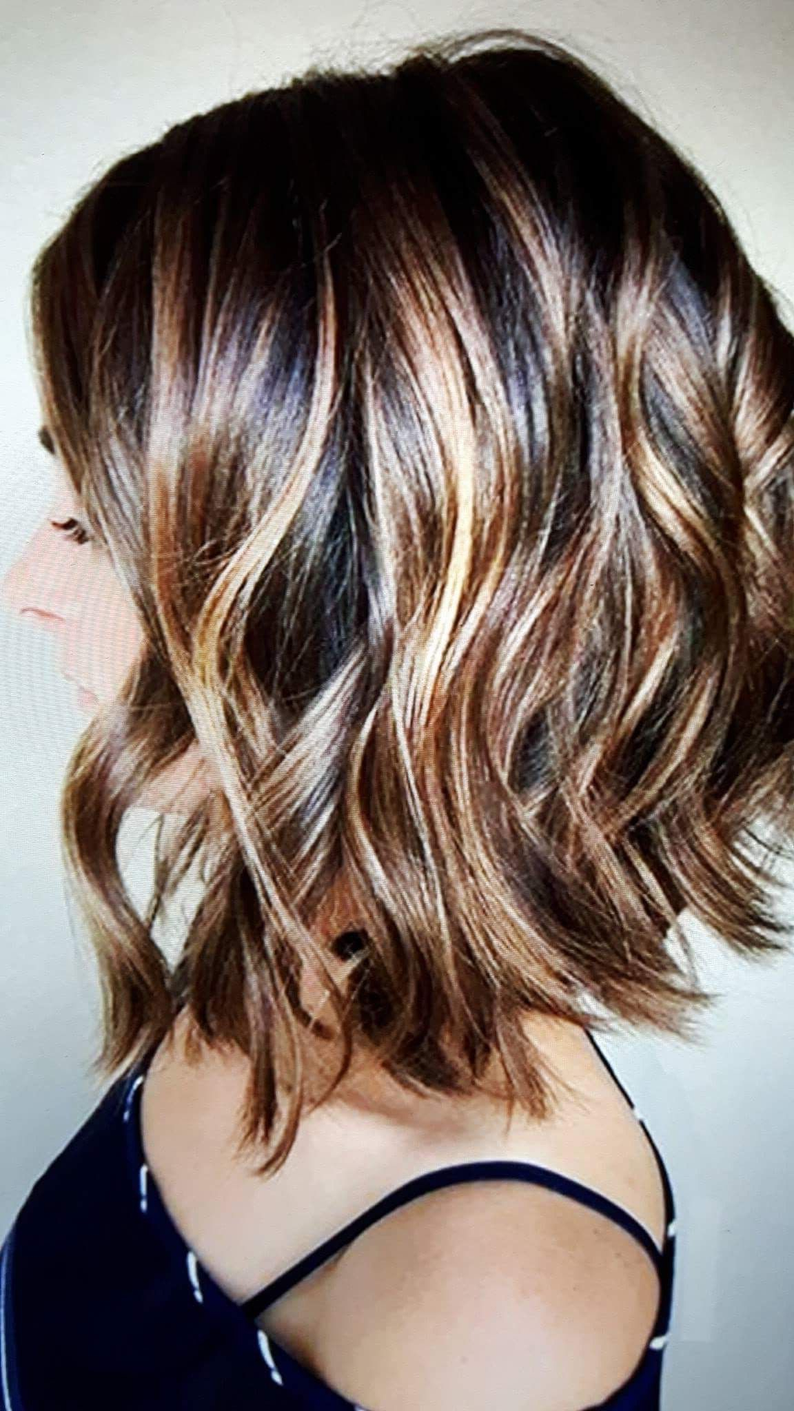 Well Known Chestnut Brown Choppy Lob Hairstyles Pertaining To Color With Choppy Bob! Would Love This For Fall♥️ In (View 19 of 20)
