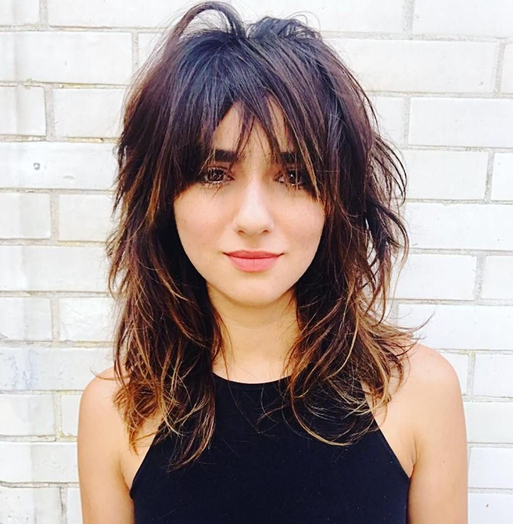 Featured Photo of Edgy Messy Shag Haircuts With Bangs