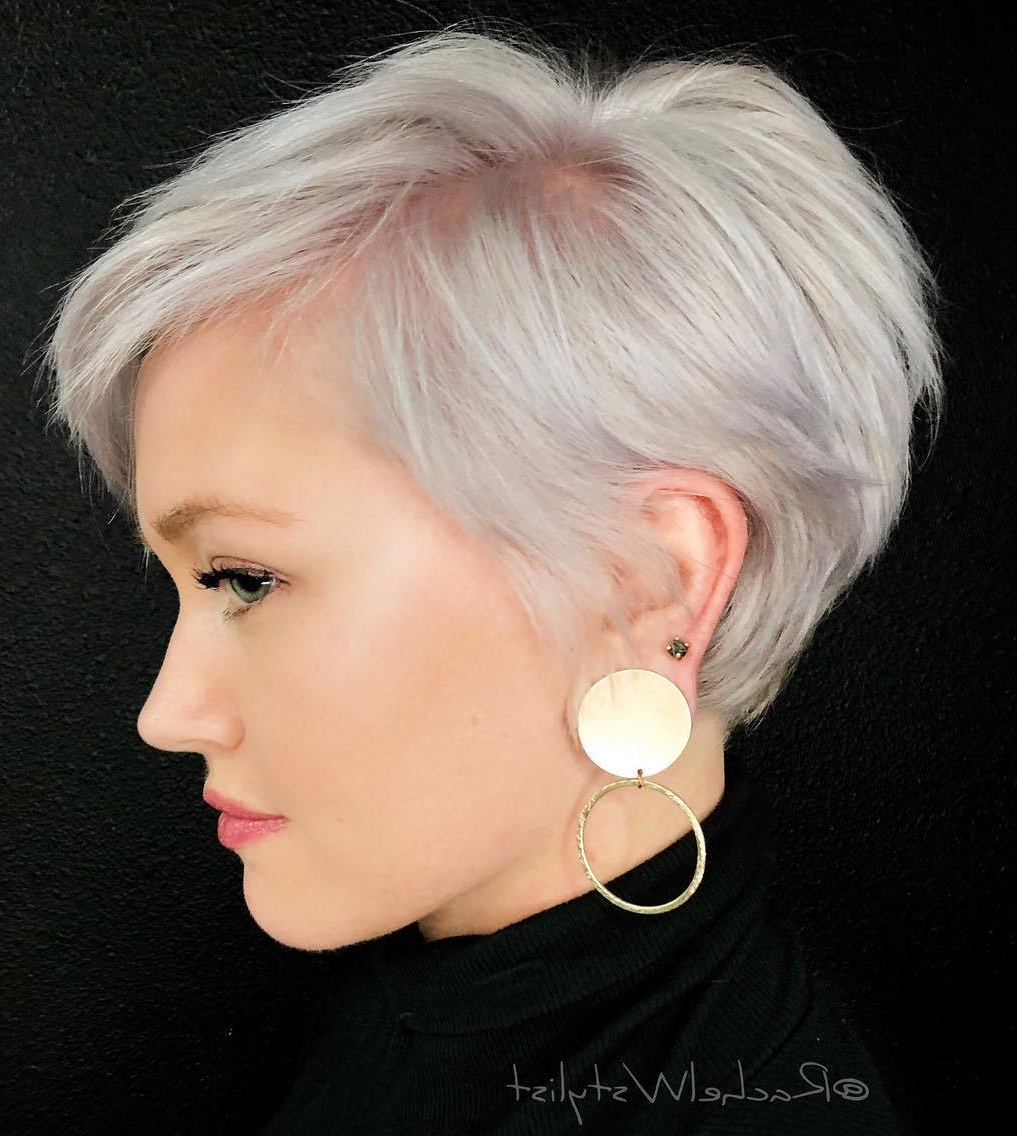 Well Known Edgy Platinum Feathered Shag Haircuts Within Short Hairstyles And Haircuts For Women To Shine In (View 19 of 20)