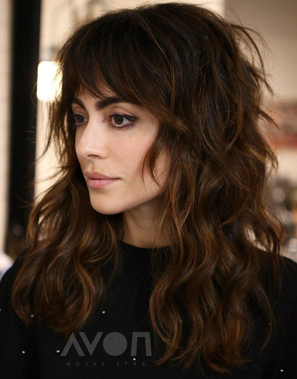 Well Known Long Curly Shag Hairstyles With Bangs For Pin On Hair Sytals (Gallery 4 of 20)