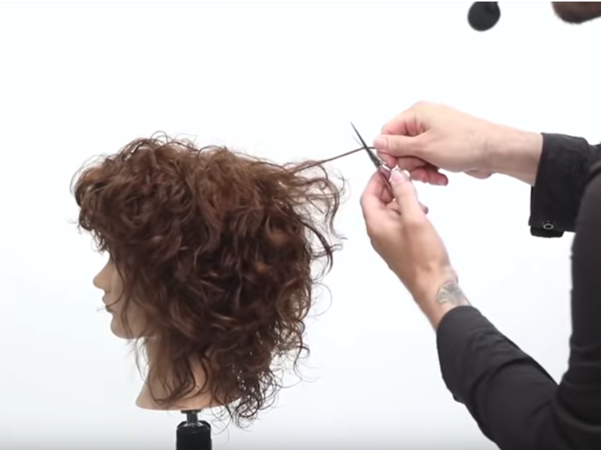 Well Known Long Curly Shag Hairstyles With Bangs Inside How To Cut A Curly Shag (View 15 of 20)