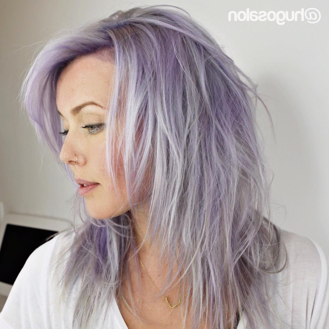 [%well Known Long Lavender Layers Shaggy Haircuts With 30 Edgy Medium Length Haircuts For Thick Hair [august, 2019]|30 Edgy Medium Length Haircuts For Thick Hair [august, 2019] Regarding Well Known Long Lavender Layers Shaggy Haircuts%] (View 7 of 20)
