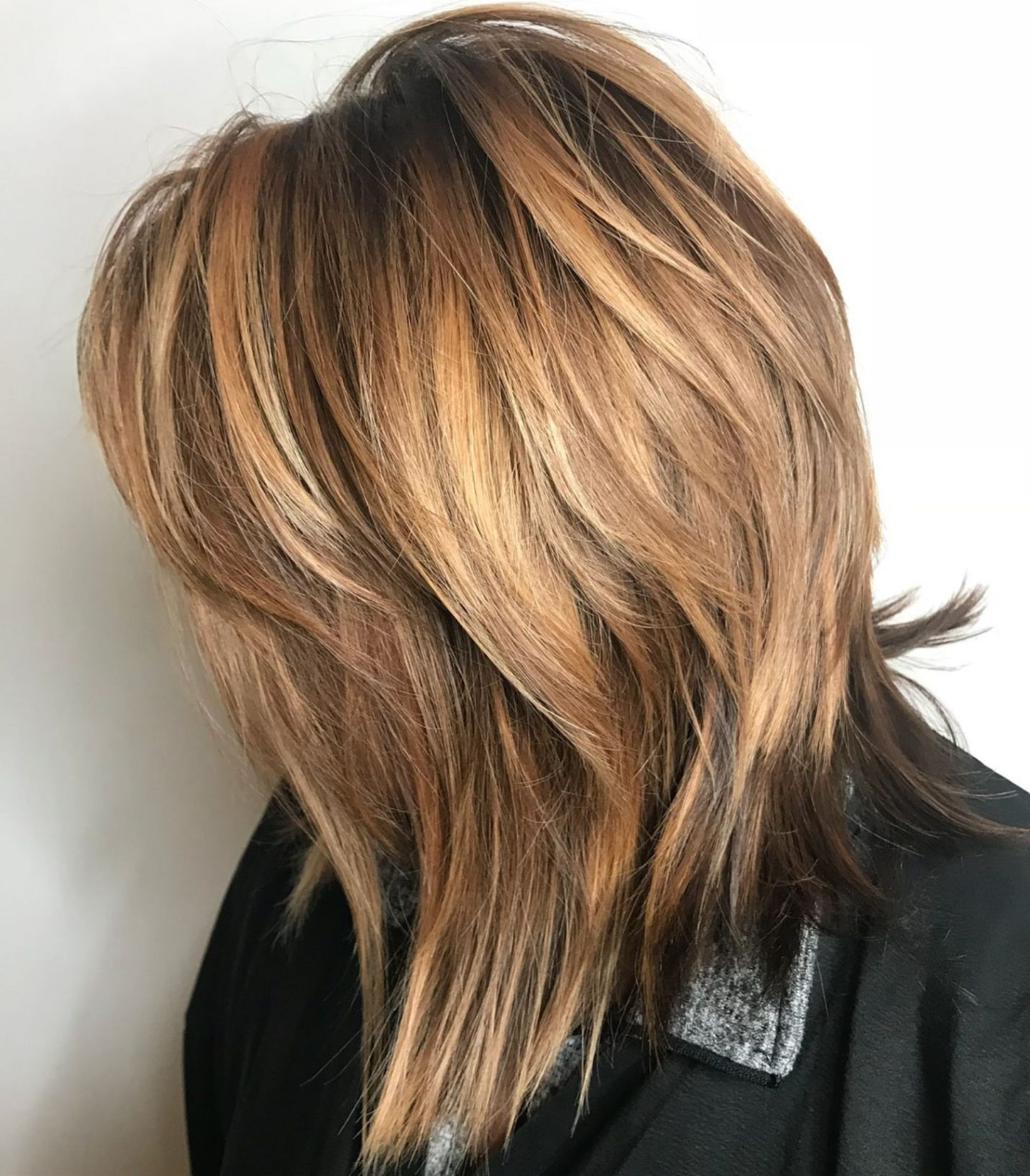 Well Known Lovely Two Tone Choppy Lob Hairstyles In Pin On Haircut (Gallery 1 of 20)