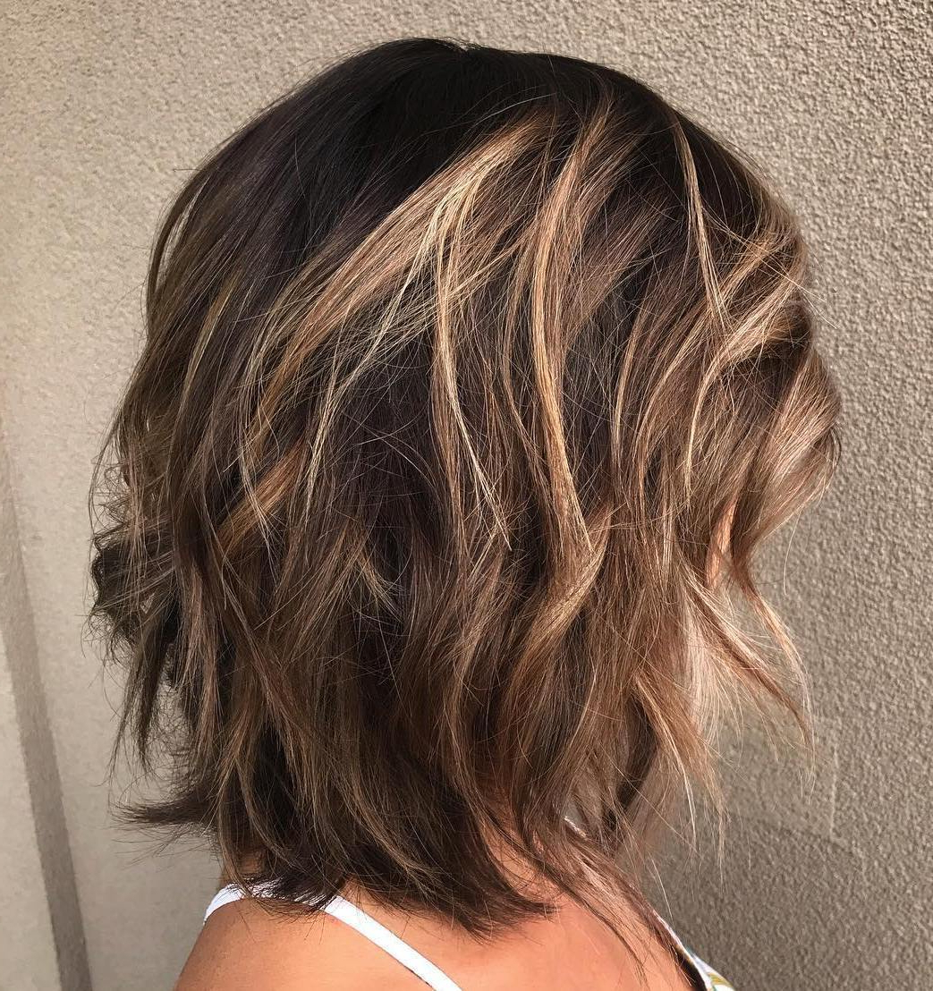 Well Known One Length Haircuts With Feathered Layers Inside 50 Fabulous Medium Length Layered Hairstyles – Hair Adviser (View 20 of 20)