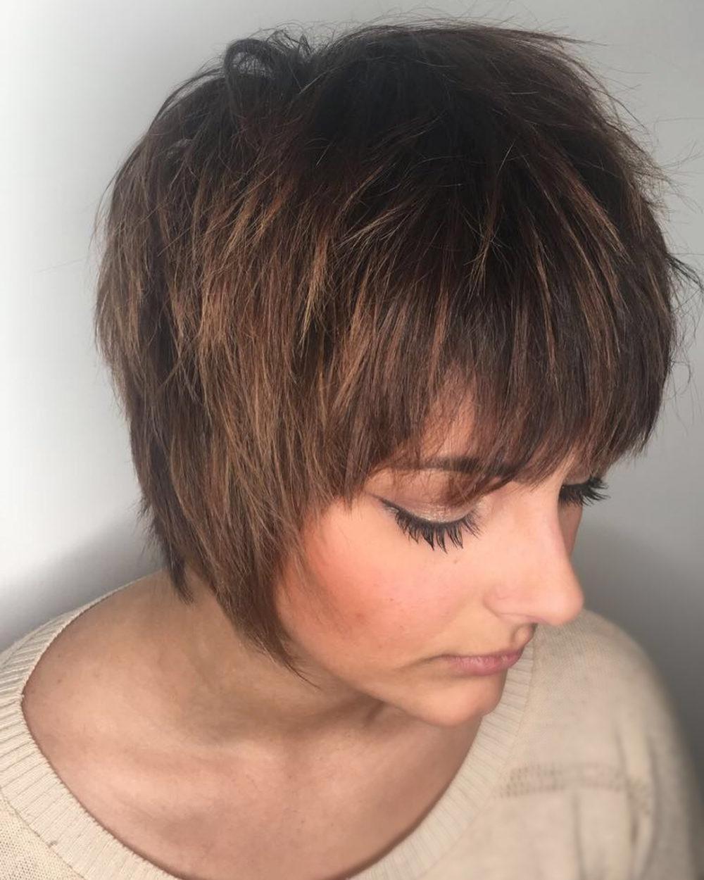 Well Known Parisian Shag Haircuts For Thin Hair For Top 25 Short Shag Haircuts Of (View 7 of 20)