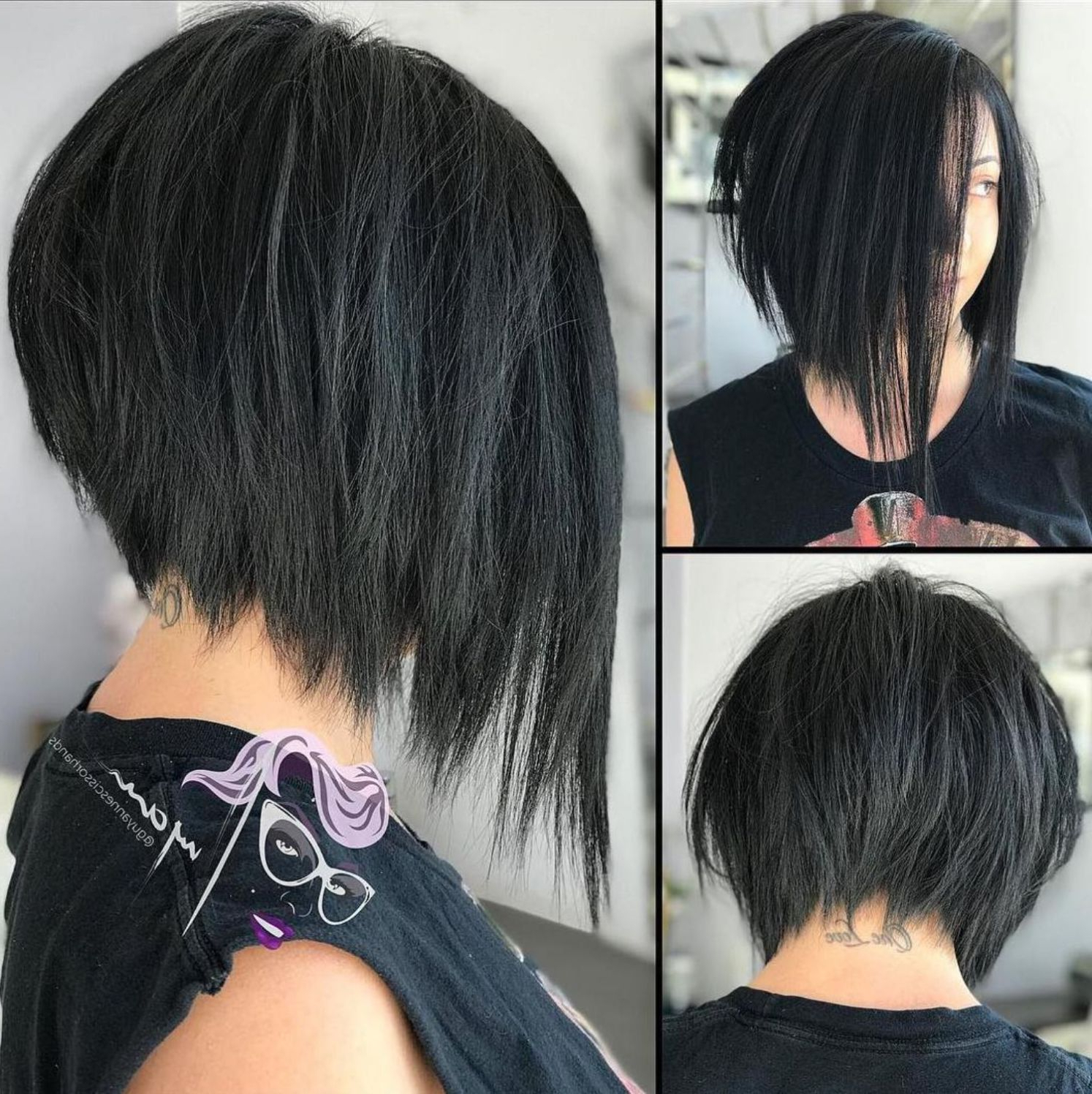 Well Known Razored Gray Bob Hairstyles With Bangs In 50 Trendy Inverted Bob Haircuts In (View 3 of 20)