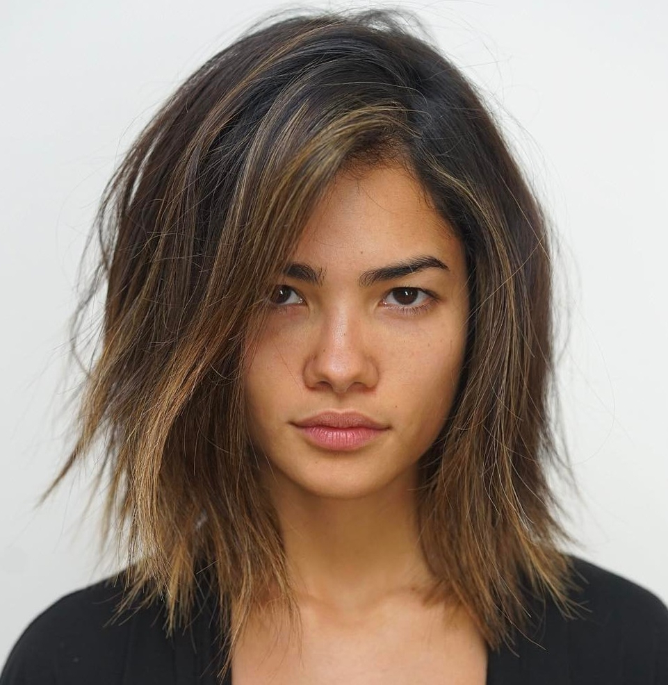 Well Known Razored Shag Haircuts For Long Thick Hair Pertaining To How To Pull Off Medium Length Haircuts And Hairstyles In (View 20 of 20)
