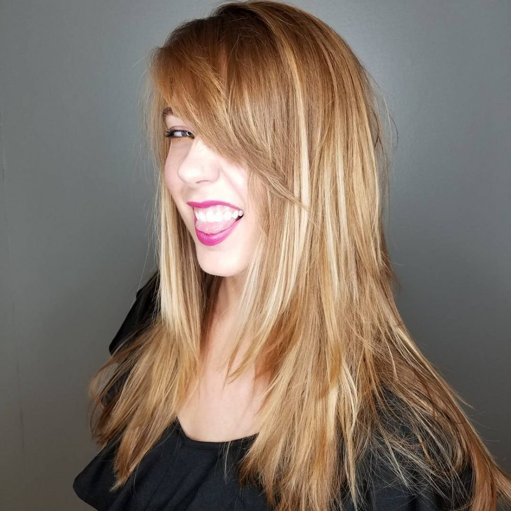 Well Known Shiny Brunette Shag Haircuts For Long Hair Intended For 20 Most Flattering Hairstyles For Long Faces In (View 20 of 20)