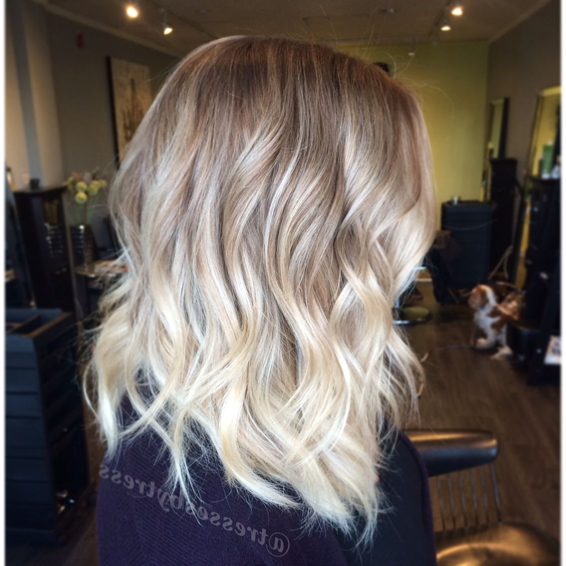 Well Known Textured Bronde Bob Hairstyles With Silver Balayage Regarding Platinum Blonde Balayage Ombre. Textured Lob Haircut In 2019 (Gallery 4 of 20)