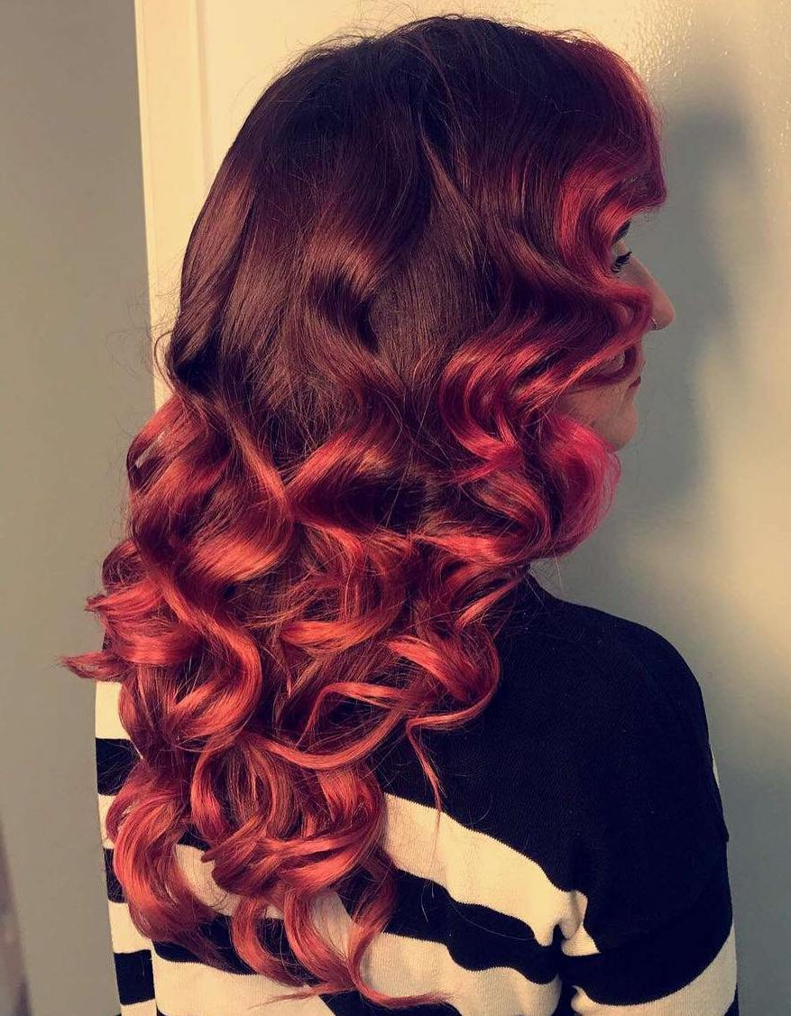 Well Liked Jagged Red Ombre Hairstyles Intended For Bombshell Long Hairstyles For Women To Keep Up With Trends (View 10 of 20)