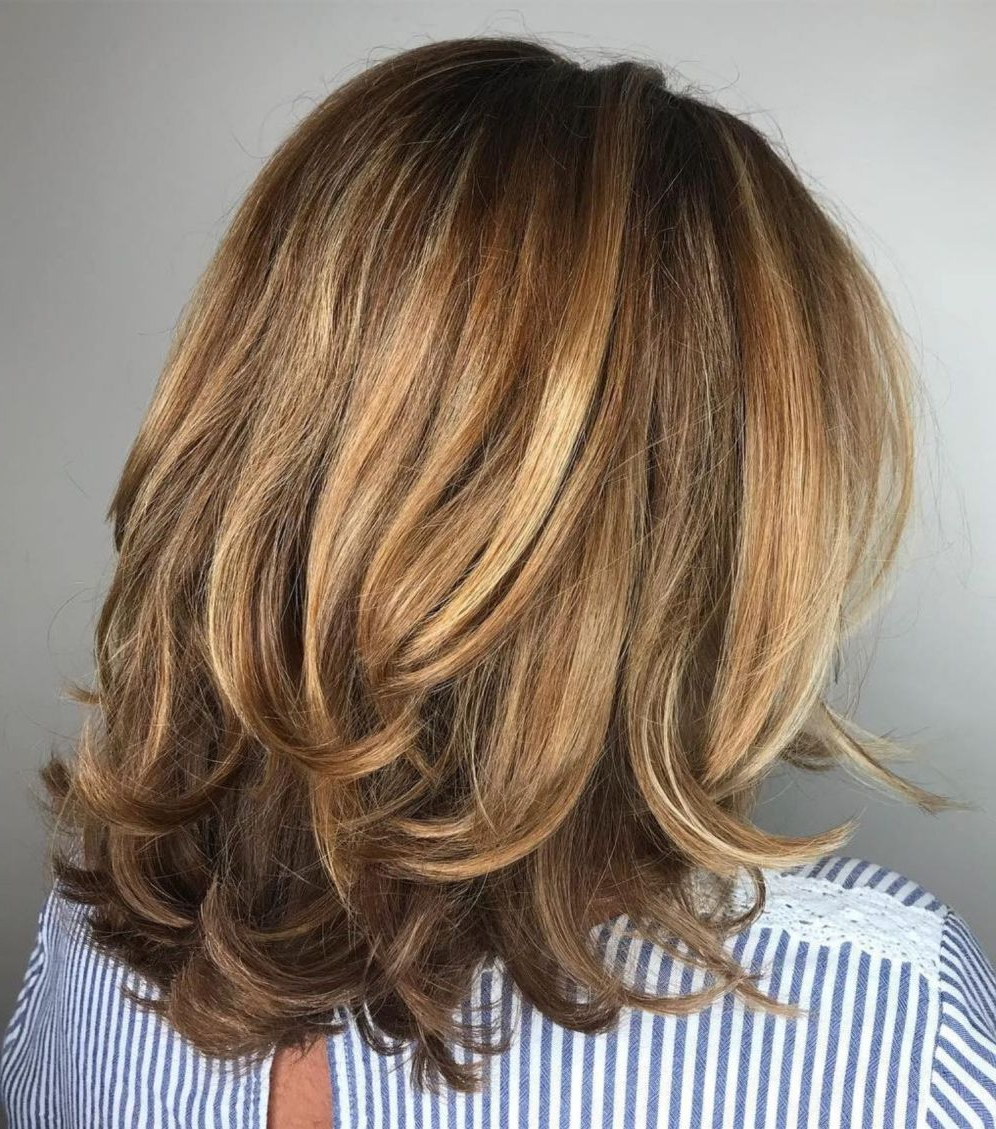 Well Liked Medium Haircuts With Flipped Ends For Thick Hair Pertaining To 50 Modern Haircuts For Women Over 50 With Extra Zing In (View 5 of 20)